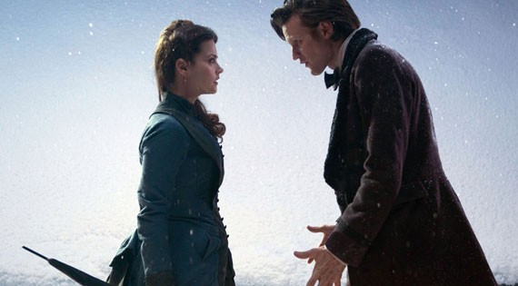 First Picture of Matt Smith and Jenna Louise-Coleman from the 2012 Christmas Special